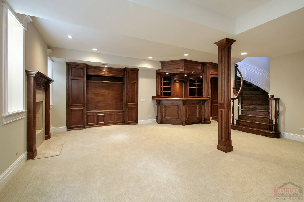 Room design ideas for your basement finishing project for Finished basement designs